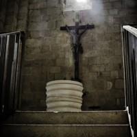 Escalier vers le baptistère
