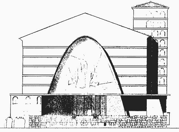 Eglise Notre Dame des Anges plan façade