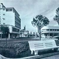 Emplacement du Café des bains dans les années 60