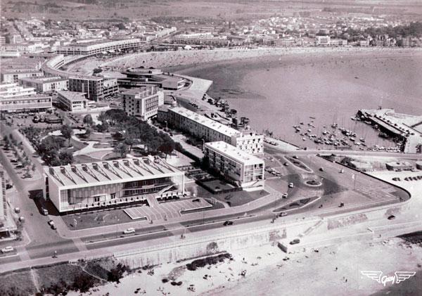Vue aérienne du Palais des Congrès