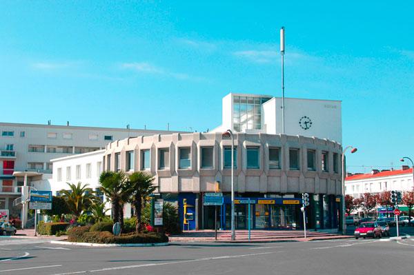 La façade actuelle de la Poste