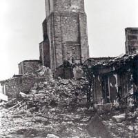 L'église St-Pierre après le bombardement du 5 janvier 1945
